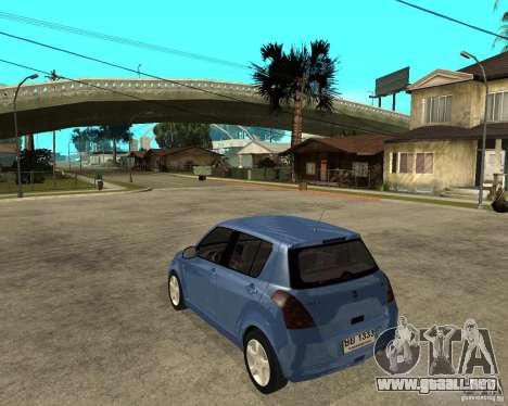 2007 Suzuki Swift para GTA San Andreas left