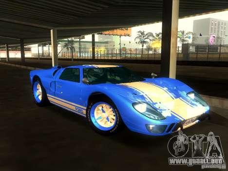 Ford GT40 1966 para vista inferior GTA San Andreas