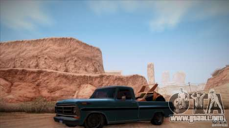 Ford F100 XLT Custom 1971 para GTA San Andreas left