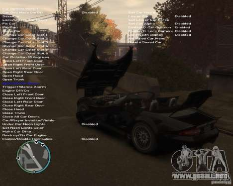 Simple Native Trainer v6.4 para GTA 4 sexto de pantalla