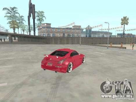 Nissan 350Z v2 para GTA San Andreas vista posterior izquierda