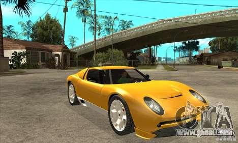 Lamborghini Miura Concept 2006 para GTA San Andreas vista hacia atrás