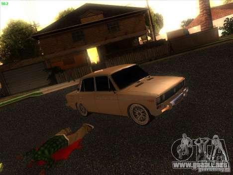 VAZ 2106 Tuning luz para GTA San Andreas vista hacia atrás