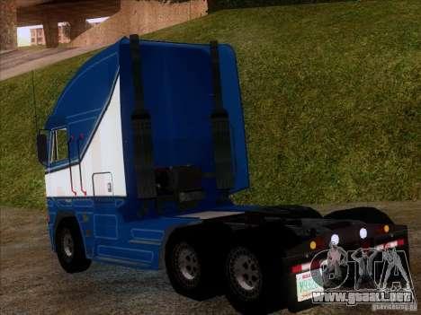 Freightliner Argosy Skin 1 para GTA San Andreas vista posterior izquierda