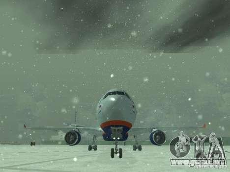 El Airbus A330-300 Aeroflot para vista lateral GTA San Andreas