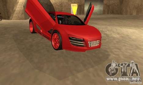 Audi R8 Custom para GTA San Andreas vista posterior izquierda