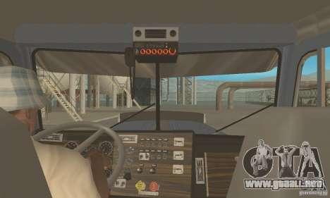 Peterbilt 379 Custom And Tanker Trailer para la visión correcta GTA San Andreas