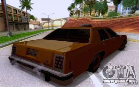 Ford Crown  Victoria LTD 1985 taxi para GTA San Andreas left