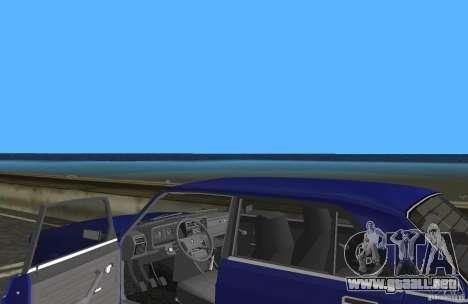 Auto LADA VAZ 2107 para GTA Vice City vista interior