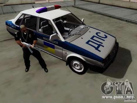 VAZ 21099, policía para visión interna GTA San Andreas