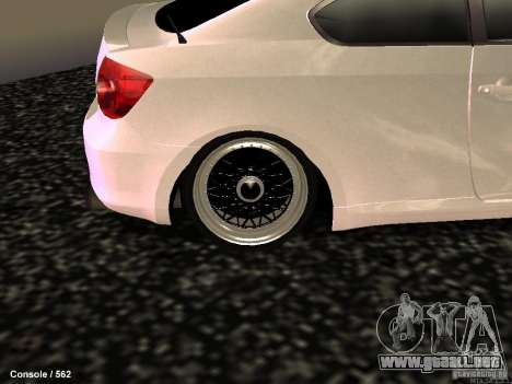 Toyota Scion para GTA San Andreas vista hacia atrás