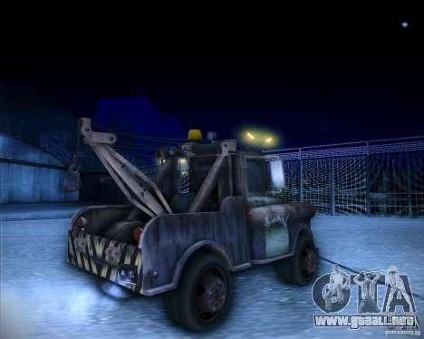 Car Mater para GTA San Andreas vista posterior izquierda