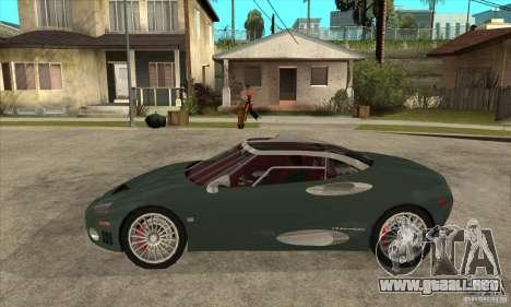 Spyker C8 Laviolete para GTA San Andreas left
