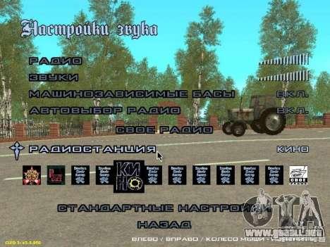 Además de la moda cine Radio para GTA San Andreas segunda pantalla