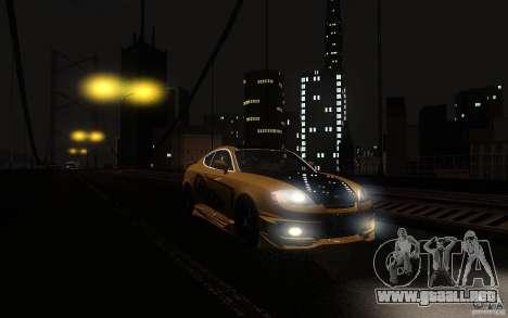 Hyundai Tiburon V6 Coupe tuning 2003 para GTA San Andreas vista hacia atrás