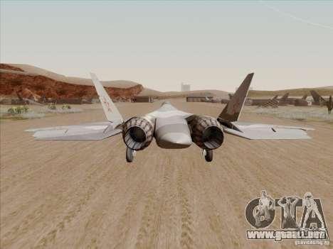 T-50 Pak Fa para GTA San Andreas vista posterior izquierda