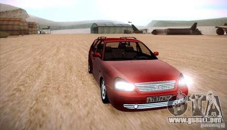 VAZ Lada Priora 2171 para la visión correcta GTA San Andreas