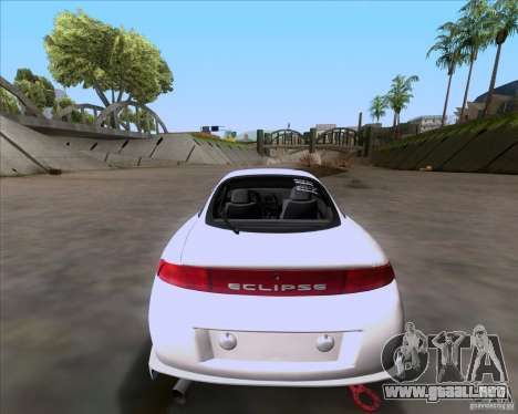 Mitsubishi Eclipse para GTA San Andreas vista hacia atrás