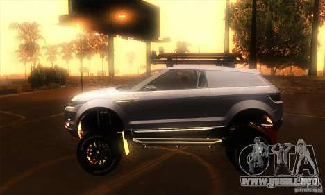 Land Rover Evoque para GTA San Andreas left