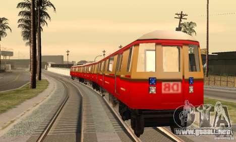 Liberty City Train DB para GTA San Andreas vista posterior izquierda
