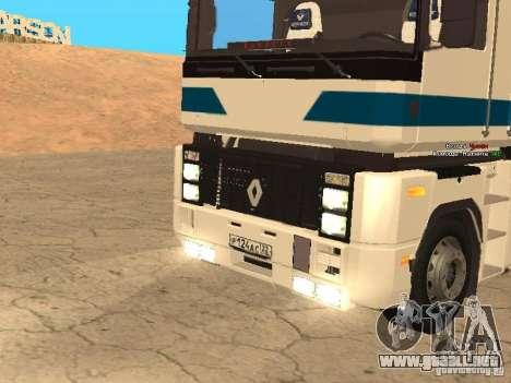 Renault Magnum Sommer Container para GTA San Andreas vista hacia atrás