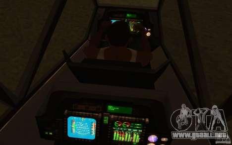 Sikorsky RAH-66 Comanche Camo para GTA San Andreas vista hacia atrás