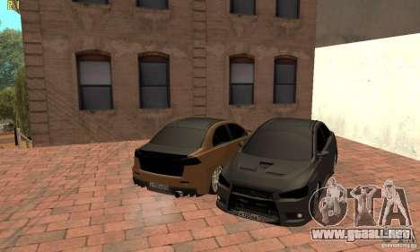 Mitsubishi Lancer Evolution Dag Style para la visión correcta GTA San Andreas