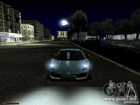 LibertySun Graphics For LowPC para GTA San Andreas sucesivamente de pantalla