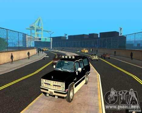 Сhevrolet 1986 suburbano para GTA San Andreas