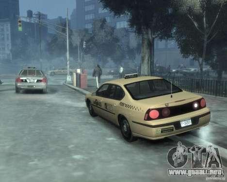 Chevrolet Impala 2003 Taxi para GTA 4 vista hacia atrás