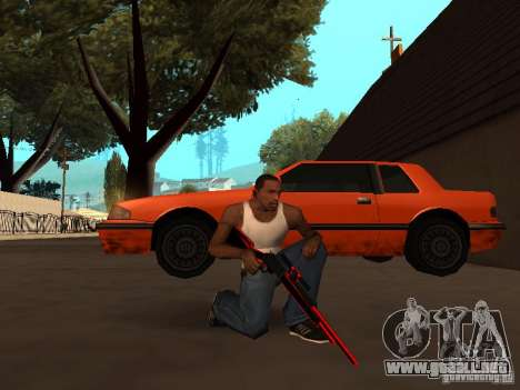 Red Chrome Weapon Pack para GTA San Andreas novena de pantalla