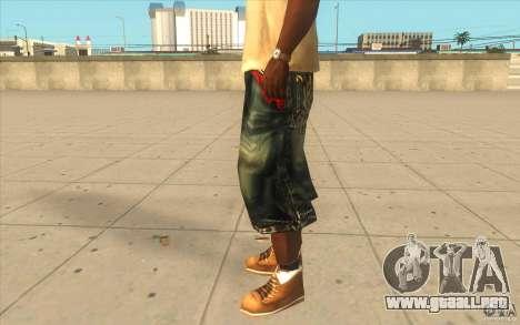 The BIG Makaveli Short Jeans para GTA San Andreas segunda pantalla