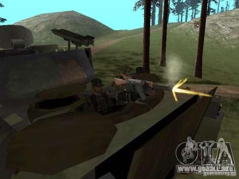 M2A3 Bradley para visión interna GTA San Andreas