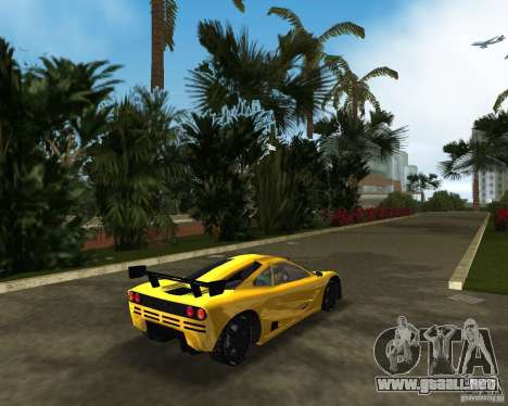 McLaren F1 LM para GTA Vice City vista lateral izquierdo