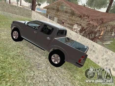 Toyota Hilux para GTA San Andreas vista hacia atrás