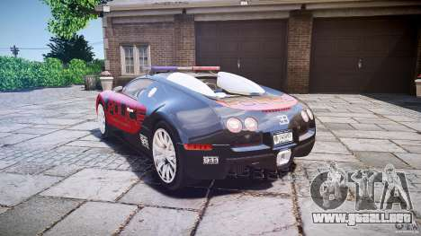Bugatti Veyron 16.4 Police [EPM/ELS] para GTA 4 Vista posterior izquierda