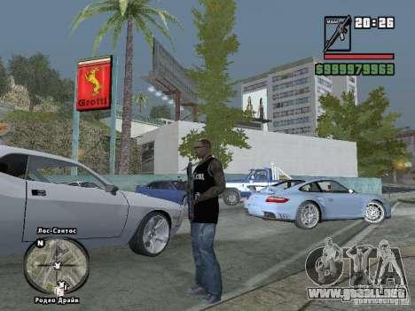 tapa del tanque de 50 cent para GTA San Andreas quinta pantalla