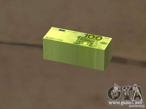 Euro money mod v 1.5 100 euros I para GTA San Andreas