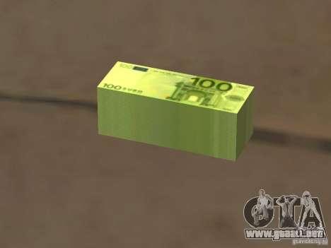 Euro money mod v 1.5 100 euros I para GTA San Andreas
