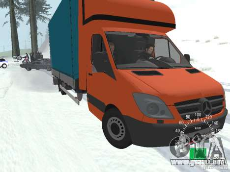 Mercedes-Benz Sprinter 518 MAXI 2007 para la vista superior GTA San Andreas