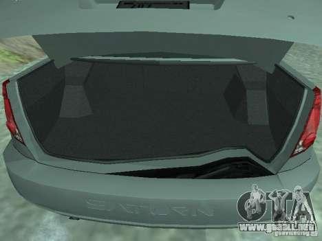 Saturn Ion Quad Coupe 2004 para GTA San Andreas vista hacia atrás