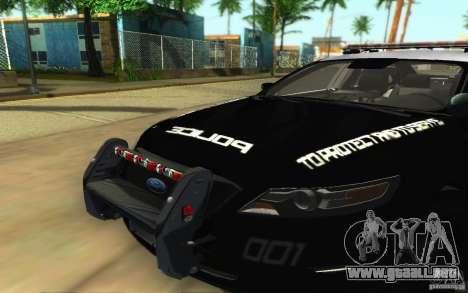Ford Taurus 2011 LAPD Police para visión interna GTA San Andreas