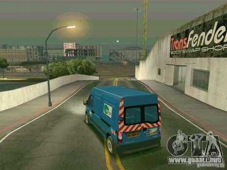 Renault Master para GTA San Andreas vista posterior izquierda
