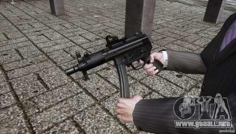 H&K MP5k para GTA 4 segundos de pantalla