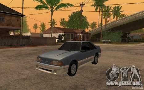 Ford Mustang GT 5.0 1993 para GTA San Andreas left