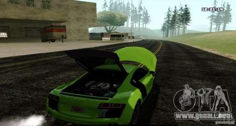 Audi R8 Light Tuned Version para GTA San Andreas vista posterior izquierda