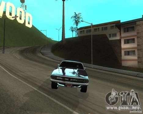1970 Plymouth Baracuda para GTA San Andreas vista posterior izquierda