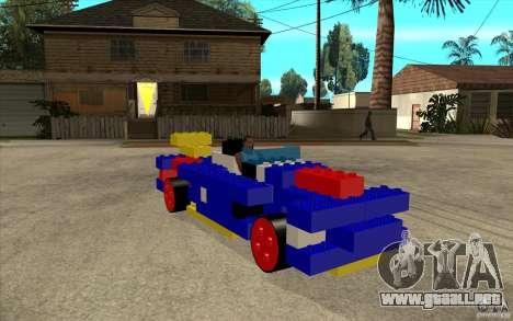 LEGO móvil para GTA San Andreas vista hacia atrás