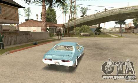 Pontiac GTO The Judge para GTA San Andreas left