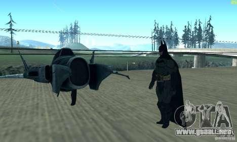 BatWing para GTA San Andreas vista hacia atrás